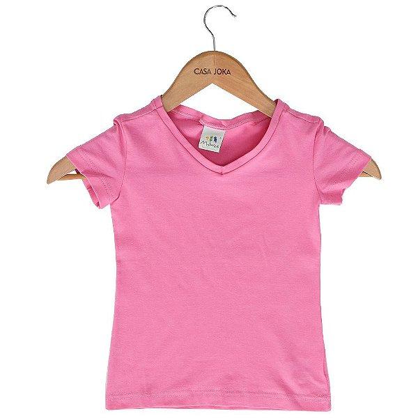 Blusa Infantil Básica - Rosa - Malwee - Casa Joka c2e532f77c4