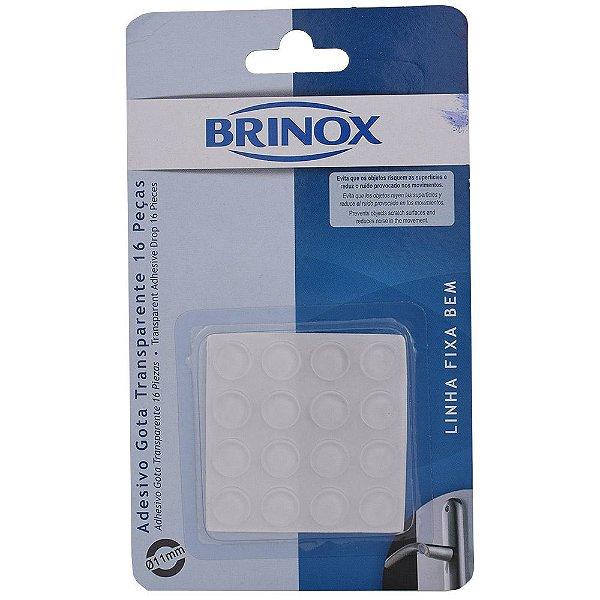 Adesivo Gota Transparente Pequeno - 16 peças - Brinox