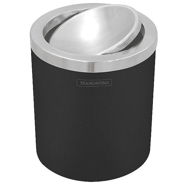 Lixeira Tampa Basculante Preta - 5 litros - Tramontina