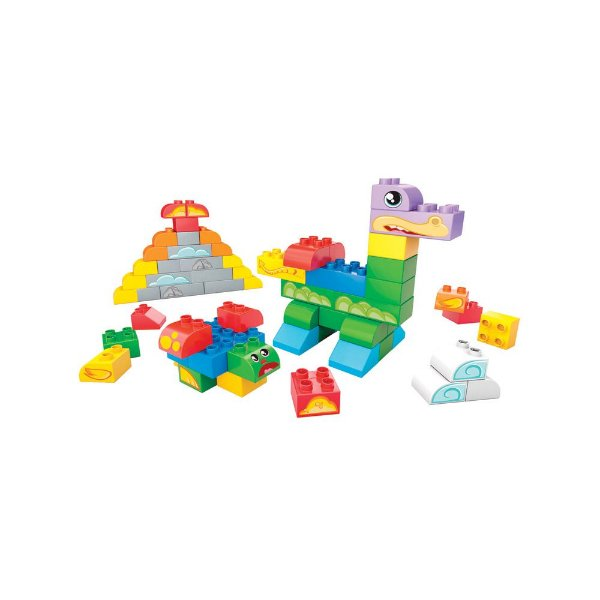Balde Primeiras Construções 60 peças - Mega Bloks
