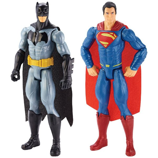 Bonecos Batman & Superman - Mattel