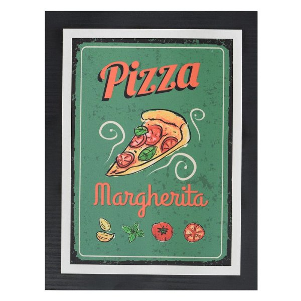 Quadro Decorativo Pizza Margherita - 30 x 23 cm