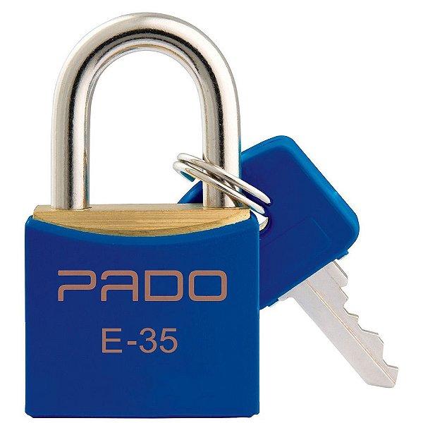 Cadeado com Chaves Colors - E 35mm - Azul - Pado