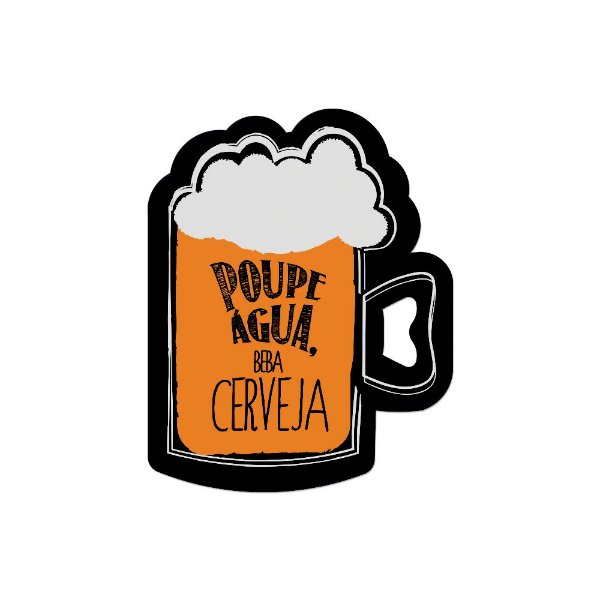 Abridor de Garrafa Ímã Cerveja - Geguton