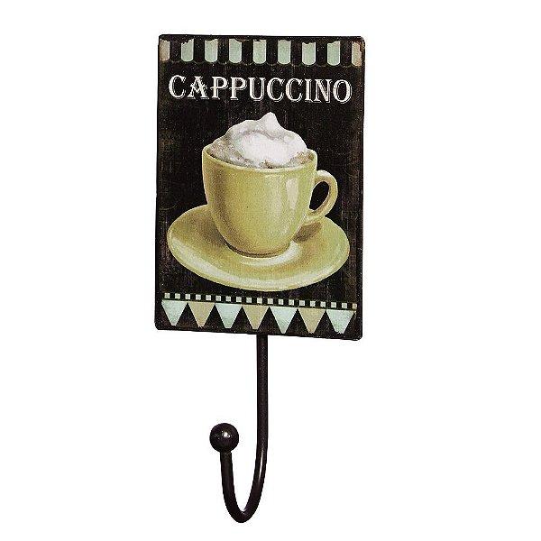 Gancho de Parede com Placa Decorativa - Cappuccino - Mart