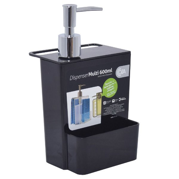 Dispenser Multiuso Preto - 600ml - Coza