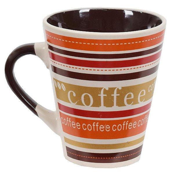 Caneca De Cerâmica Caboclo 300ml - Coffee Bege
