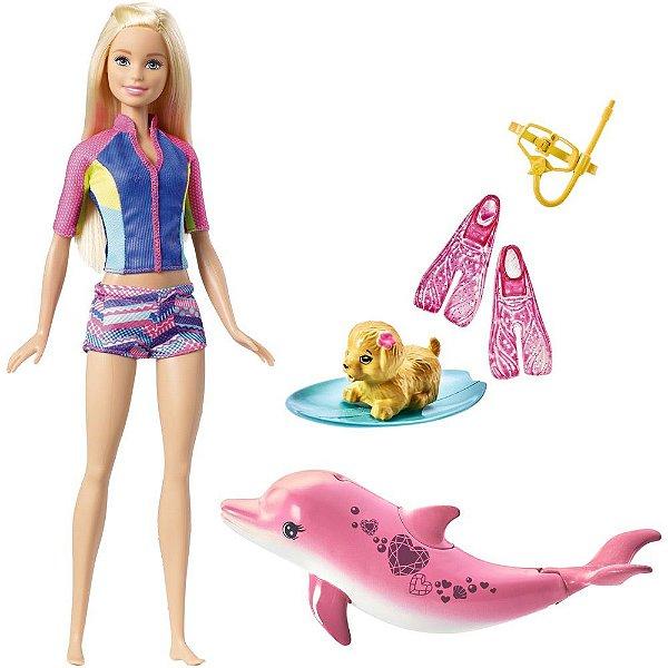 Boneca Barbie Mergulhando Com Bichinhos - Mattel