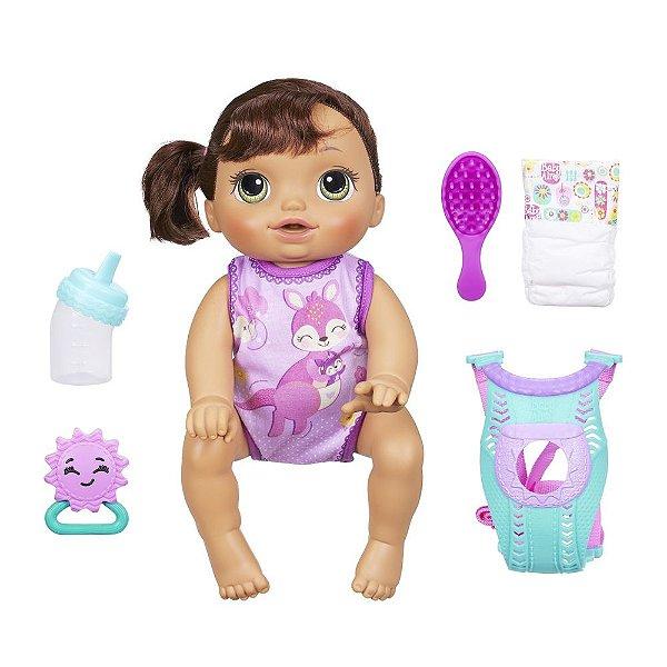 Baby Alive Morena - Hora do Passeio - Hasbro