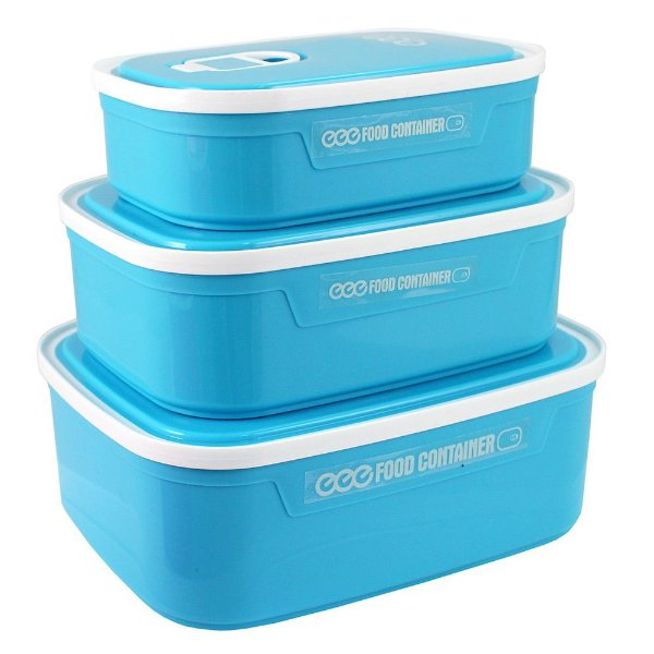 Conjunto de Potes para Alimentos Fitness - Azul