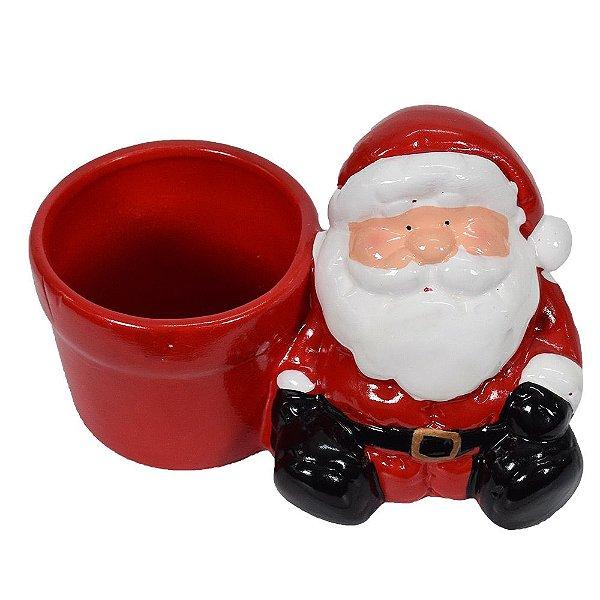 Enfeite de Natal Em Cerâmica - Papai Noel