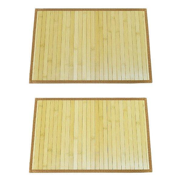 Conjunto Jogo Americano Bambu - Cru - Mimo Style