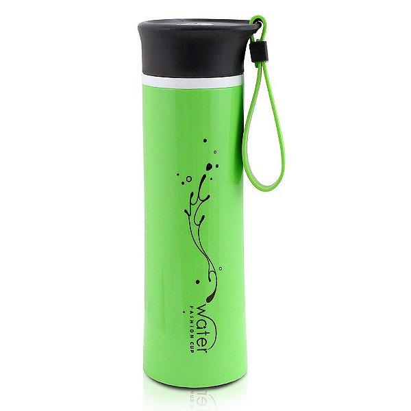 Garrafa Water Fashion com Tampa Verde - 380ml