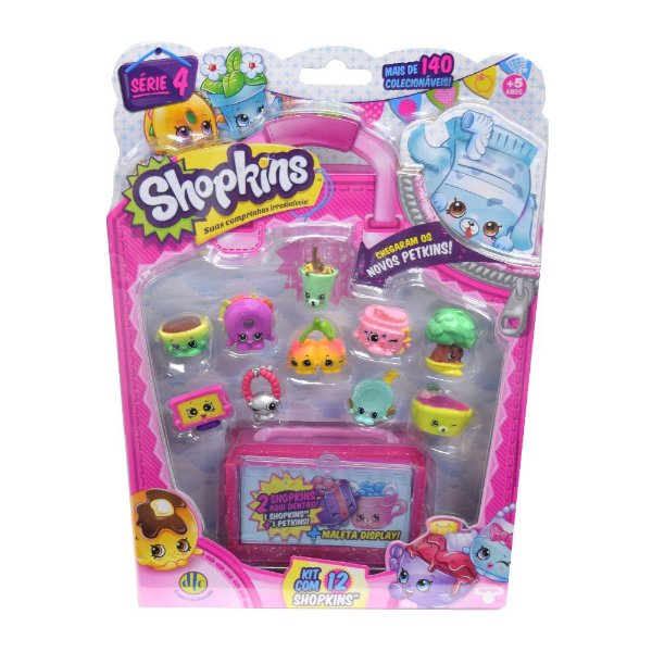 Shopkins Blister Kit com 12 Personagens - Série 4 - DTC