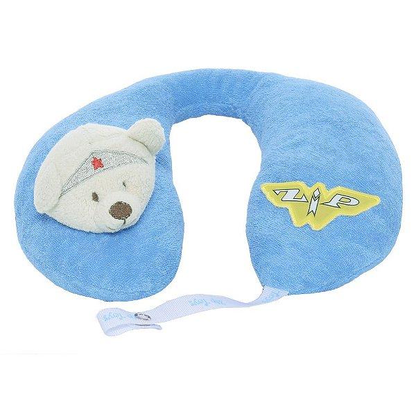 Protetor de Pescoço Super Ursinha - Azul - Zip Toys