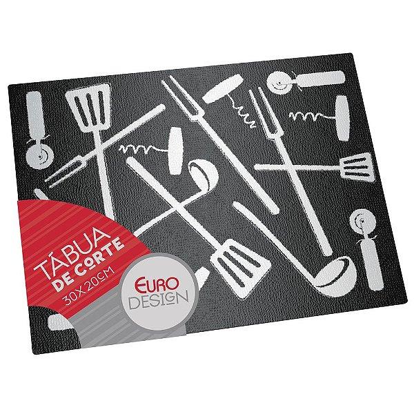 Tábua de Vidro Temperado Gadgets Black - Euro Home