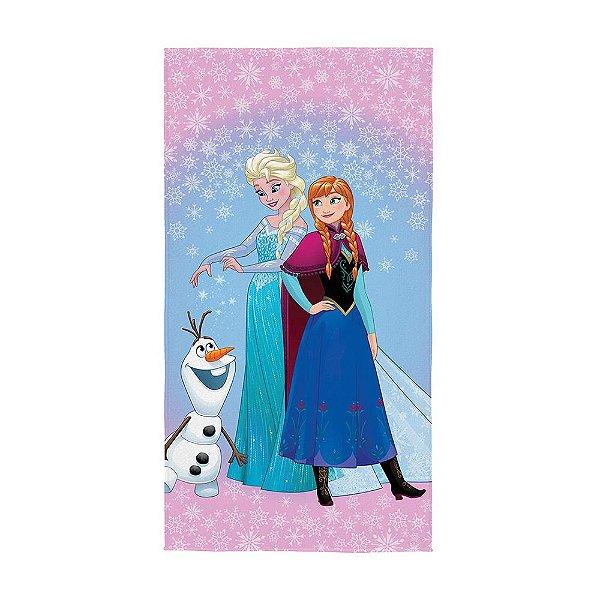 Toalha Aveludada Infantil - Frozen - Flocos de Neve - Lepper Kids