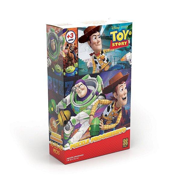 Quebra-Cabeça Progressivo Toy Story - 16, 25 e 49 Peças - Grow