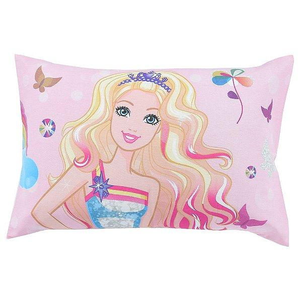 Fronha Avulsa Estampada - Barbie Reino do Arco Íris - Lepper