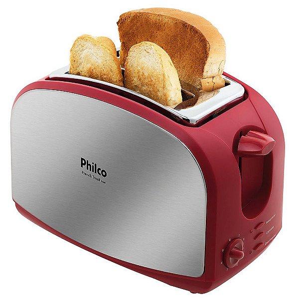 Torradeira French Toast Inox Vermelha - Philco