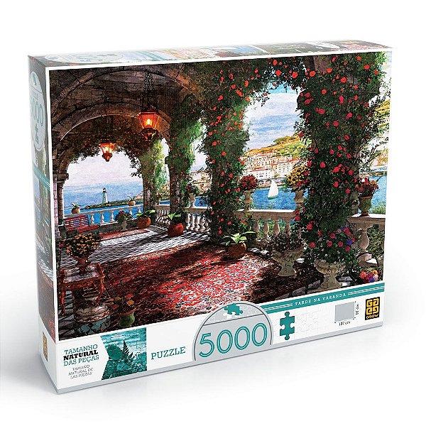 Quebra-Cabeça Tarde na Varanda - 5000 peças - Grow