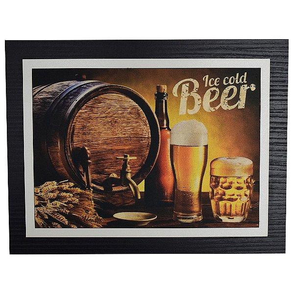 Quadro Decorativo Ice Cold Beer - 30 x 23 cm