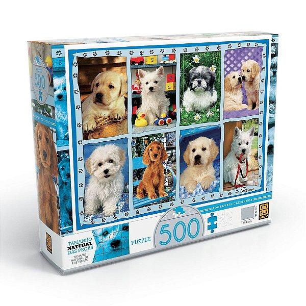 Quebra-Cabeça Adoráveis Cãezinhos - 500 peças - Grow
