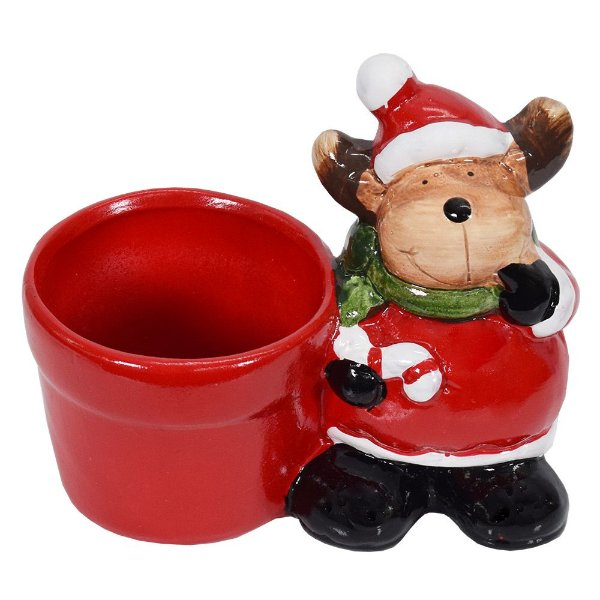 Enfeite de Natal Em Cerâmica - Rena