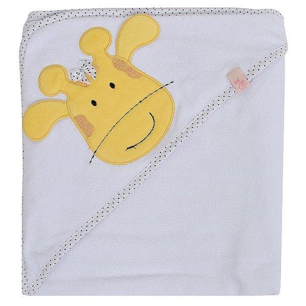 Toalha de Banho com Capuz Girafinha Girl - Bicho Molhado