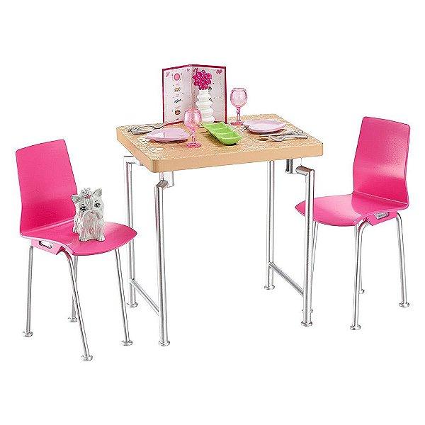 Boneca Barbie Móveis - Hora do Jantar - Mattel