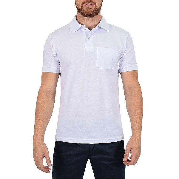 Camisa Polo Masculina Branca - Wayna