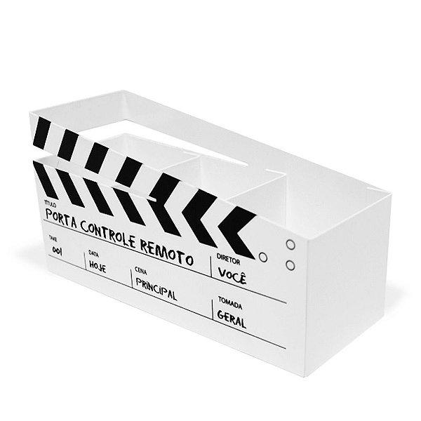 Porta Controle Remoto Cinema Branco - Geguton