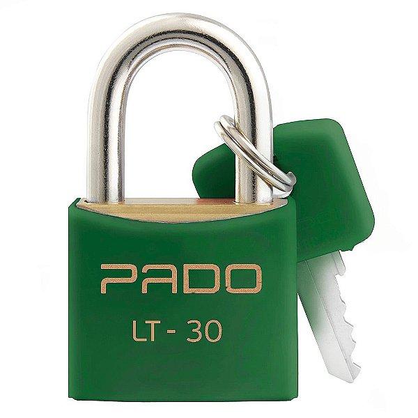 Cadeado Com Chaves Colors - LT 30mm - Verde - Pado