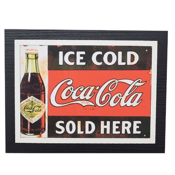 Quadro Decorativo Coca-Cola Ice Cold - 30 x 23 cm