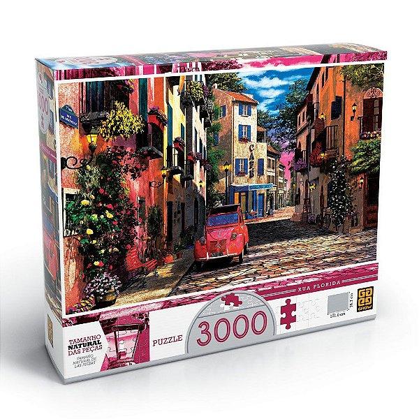 Quebra-Cabeça Rua Florida - 3000 Peças - Grow