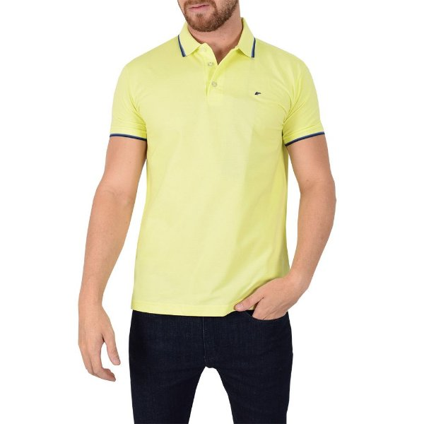 Camisa Polo Básica Amarela - Ellus