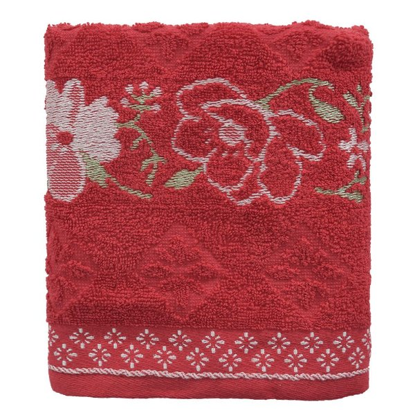 Toalha de Rosto Allegra Yuna - Vermelha - Karsten