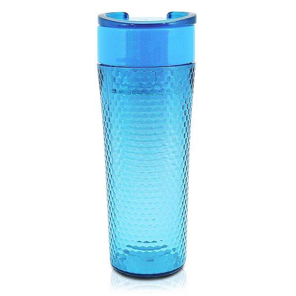 Copo com Tampa Fitness Azul - 450ml - Jacki Design