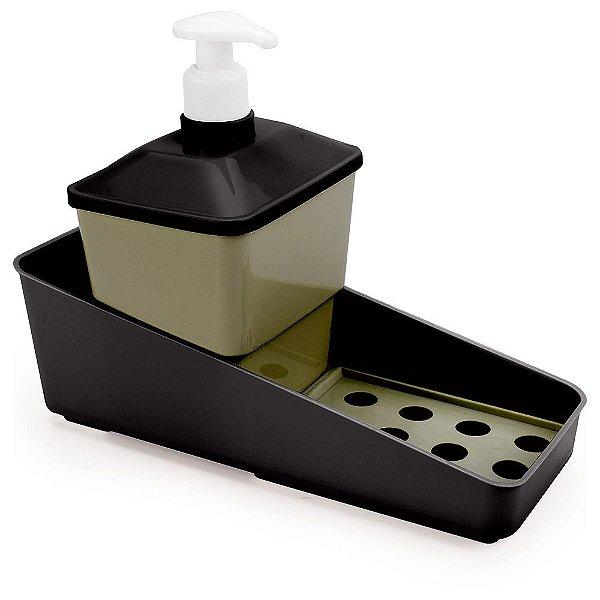 Conjunto Porta Detergente - Dourado e Preto - Plasútil