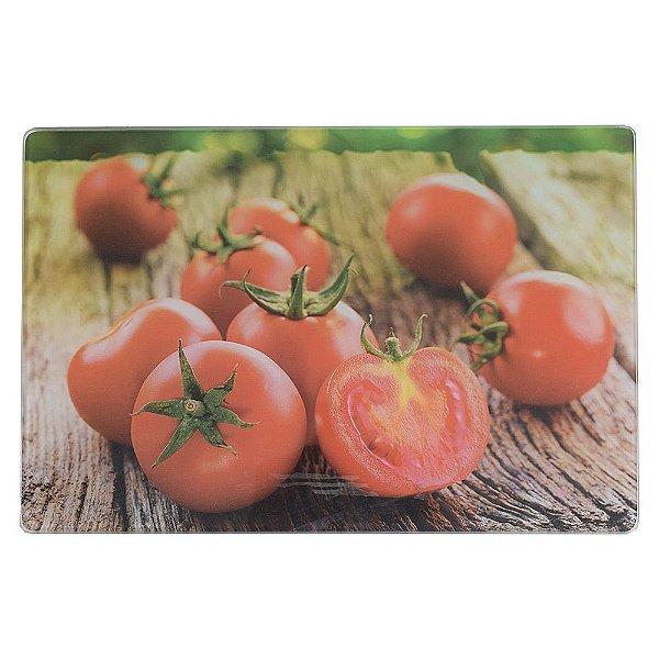 Tábua De Vidro Para Corte 20cm x 30cm - Tomates