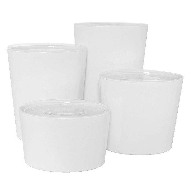 Organizadores Multi-Uso Oval Branco - 4 Peças - Top Line ud.