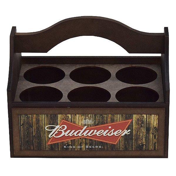 Engradado para Garrafas Long Neck - Budweiser - Vikos