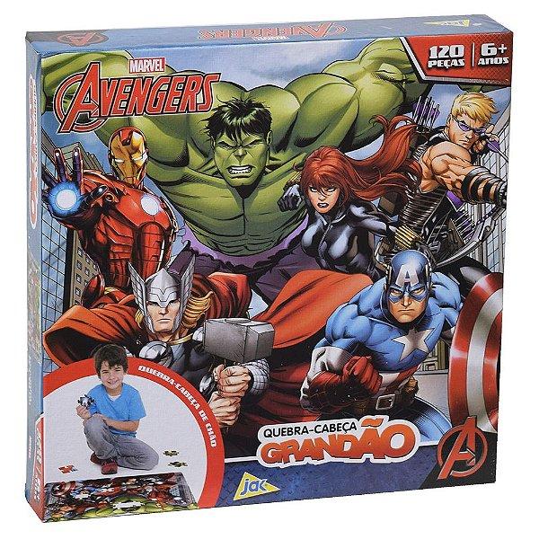 Quebra-cabeça grandão Vingadores – 120 peças - Toyster