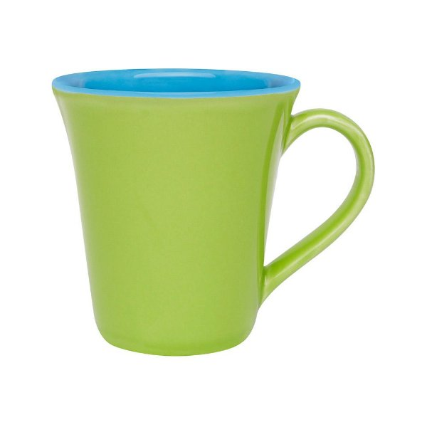 Caneca Tulipa Bicolor 330ml - Verde/Azul - Oxford
