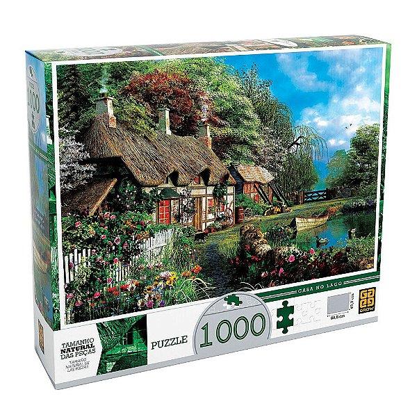 Quebra Cabeça Casa no Lago - 1000 Peças - Grow