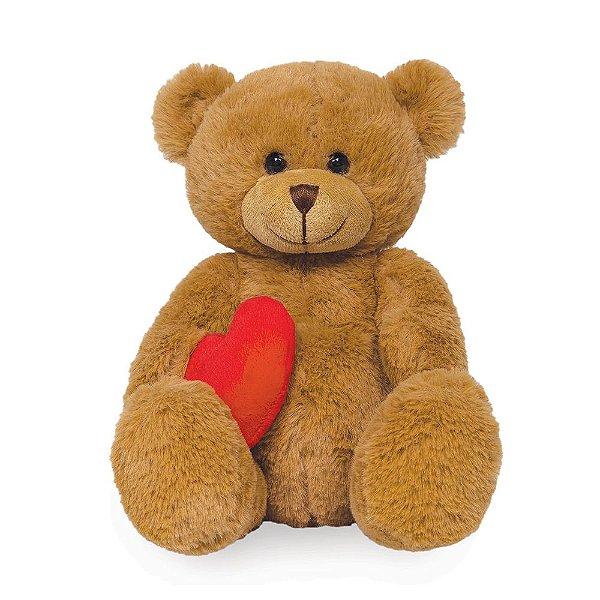 Pelúcia Urso com Coraçãozinho Marrom - Buba