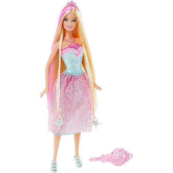 Barbie Reino dos Penteados Mágicos - Princesa com Mecha - Mattel