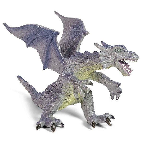 Dragão Bicho Mundi - Azul com Asas - DTC