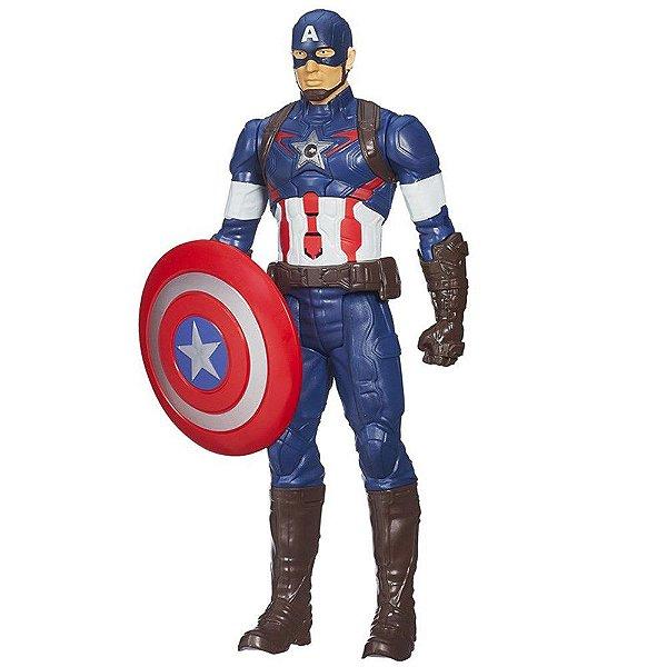 Boneco Capitão America Avengers com Som - Hasbro
