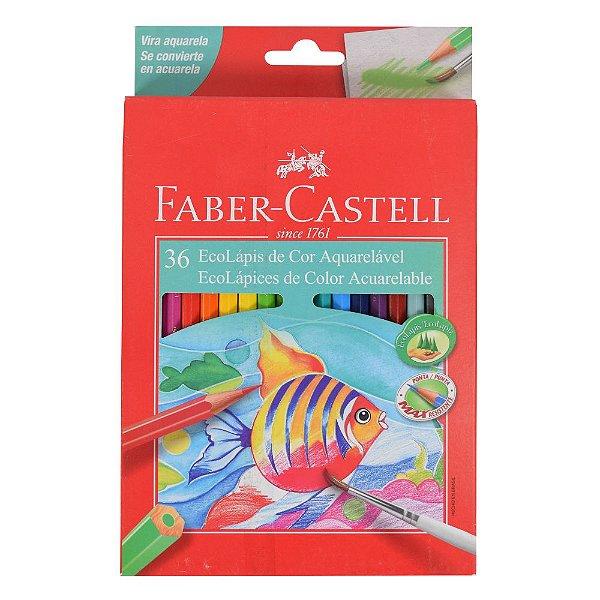 Lápis de Cor Sextavado Aquarelável Faber Castell - 36 cores